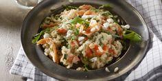 Risotto met gerookte zalm en geitenkaas - Boodschappen Risotto, Pasta, Potato Salad, Good Food, Potatoes, Dinner, Ethnic Recipes, Salads, Dining