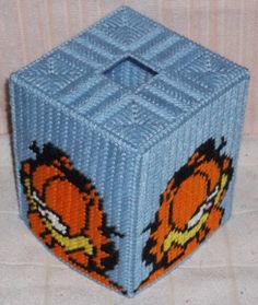 Garfield Tissue Box Cover Plastic Canvas Pattern