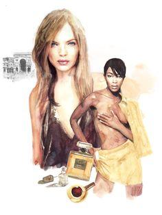 Fashion Illustration 2013 by Berto Martinez, via Behance