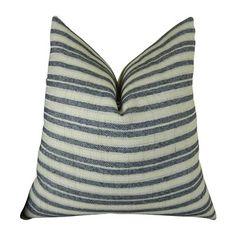 Plutus Brand PB11156 Stone Manor Indigo Handmade Decorative Throw Pillow