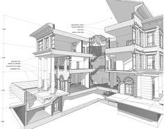 3d construction plan section archicad - Google keresés
