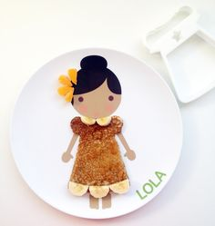 Personalized melamine plate.
