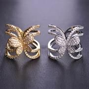 Butterfly Zircon Silver Color Ring Zirconia Rings, Color Ring, Silver Color, Gold Rings, Butterfly, Rose Gold, Elegant, Jewelry, Classy