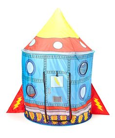 This Rocket Ship Tent is perfect! #zulilyfinds