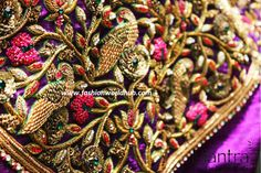 Are you looking for the latest designer maggam work blouses with heavy zardosi, stone work blouses, thread work, chamki and mirror work on your big day. Here is one of the mind blowing article…
