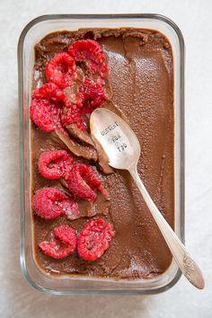 Vegan Chocolate Sorbet from @dessertfortwo