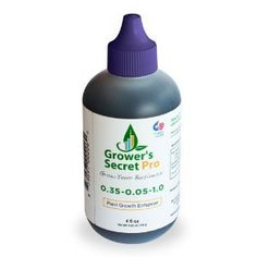Grower's Secret Pro plant growth enhancer now available with Fertilizers and Compost in Home & Garden Center. Concentrated 4-ounce bottle will make 500 gallons that will treat 1 to 4 acres of crops, depending on the type of plants grown. http://www.farmersmarketonline.com/fertilizer.htm