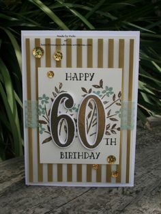 Stampin' Up Number of Years 60th Birthday card
