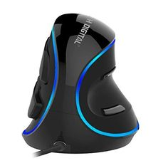 J-Tech Digital Wired Ergonomic Vertical USB Mouse with Adjustable Sensitivity DPI), Scroll Endurance, Removable Palm Rest & Thumb Buttons - Tech Marketplace Computer Accessories, Tech Accessories, Best Ergonomic Mouse, Razer Mouse, 4g Wireless, Digital Tv, Logitech, Internet Of Things