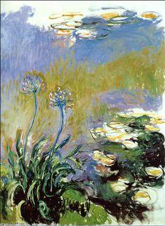 Agapanthus, 1917 de Claude Monet (1840-1926, France)