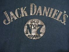 Jack Daniels Old No 7 Vintage 1998 T Shirt With Raised Letters Size Large  #JackDaniels #EmbellishedTee