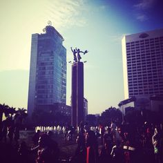 Welcome monument of jakarta!