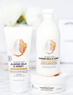 The Body Shop Almond Milk & Honey // Beauty and the Chic One of my favorite lines!