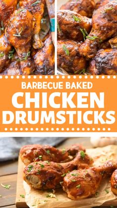 Easy barbecue baked chicken drumsticks recipe is a kid's favorite! Make a simple and easy chicken drumstick recipe and experience its juicy and flavorful taste. Impress your family with this exciting meal and make them fall in love all over again. Oven Barbecue Chicken, Bbq Chicken Drumsticks, Grilled Drumsticks, Chicken Tenders, Barbecue Sauce, Easy Chicken Drumstick Recipes, Baked Chicken Recipes, Recipe Chicken, Barbecue Recipes