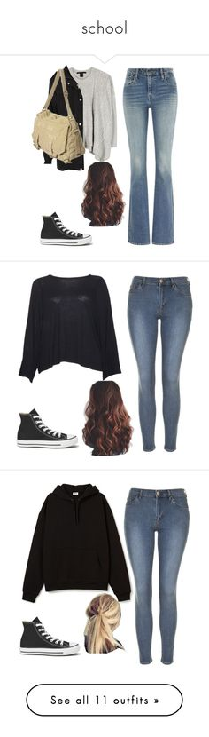 """school"" by sofia-mendez ❤ liked on Polyvore featuring Levi's, Marc by Marc Jacobs, Converse, The Row, Topshop, LOFT, Revlon, NARS Cosmetics, Korres and Paige Denim"