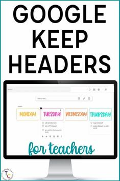 """Google Keep is the perfect organizational tool for teachers! Whether you're teaching in person, online for distance learning, or in a hybrid model, you can """"Keep"""" all of your information in one place. With drawings, notes, checklists, reminders, and more, Google Keep helps you stay organized and top of your to-do list. This helpful blog post explains how you can use Google Keep in the classroom, and includes 75 Google Keep Headers designed for teachers."""