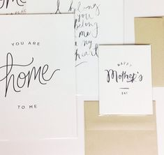 Free Mother's Day Art Print and Card Printable from October Ink