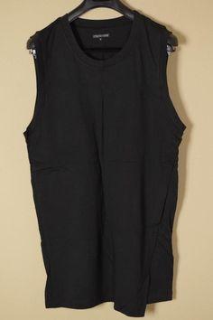 Alexandre Plokhov Black Sleeveless Shirt sz 50 Large New Muscle Tshirt Polo NWT #AlexandrePhlokov #TankTop