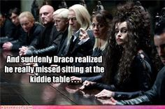 Forget that. I'd sit at Helena Bonham Carter's table any day. Imagine the conversations. They'd be brilliantly mad... O.o