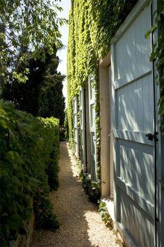 Sliding doors, ivy & path