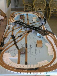 N-Scale model railroad #modeltraintablediy #modeltraintablehowtomake