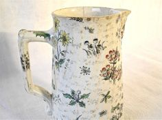Antique french milk jug with flowers  1800 by myfrenchycottage, $89.00