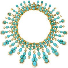 VAN CLEEF & ARPELS TURQUOISE AND DIAMOND NECKLACE