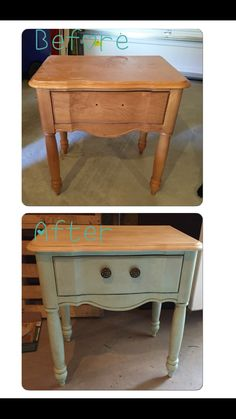DIY chalk paint with Valspar samples ($3) and plaster of Paris ($6). 1 cup Valspar pant, 1 tbls plaster of Paris mixed together then slowly add 1/4 cup hot water. I used miniwax natural wax as a 1st coat over the paint and then used Annie Sloan's dark wax ($34 the only one that I could find that makes the dark wax). I bought Annie Sloan's wax brush ($36) but you can buy a regular paint brush and cut down the bristles to use for the wax, much cheaper! Clear wax takes the dark off if you mess ...
