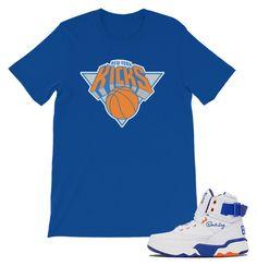 Grailz NewYorkKicks Sneaker Matching TEE Blue by grailz on Polyvore featuring Ewing Athletics, men's fashion and menswear