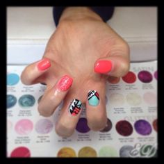 Love these colours together! Pina Parie never fails! Striking bright rich tones, always give me the look I want to create! #handpainted #naildesignbyemma