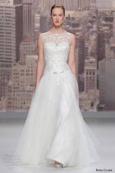 Rosa Clará 2015 Wedding Dresses----Dropped Waist, A-Line Skirt, Some More Amazing Beading & Embroidery❤