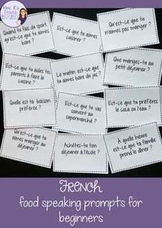 Getting students speaking the target language is a challenge for foreign language teachers! Find effective teaching ideas for French class here. Learn French Fast, Learn To Speak French, How To Speak Spanish, Ways Of Learning, Cooperative Learning, Learning Spanish, Spanish Class, Communication Orale, Communication Activities
