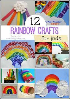 12 Rainbow Crafts for Kids. Great for spring crafts and St. Patrick's Day kids crafts. | on iheartcraftythings.com