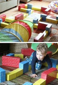 Rainy Day Activities for Children *Bookmarking these kids' craft and play ideas from Melissa & Doug. This indoor maze idea is too cool.