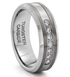 8MM Beveled Polish-Brushed Diamond Tungsten Rings For Men Tungsten Wedding Band Tungsten Rings FOR MEN http://www.amazon.com/dp/B00SQQLV26/ref=cm_sw_r_pi_dp_Qfxavb12G972B