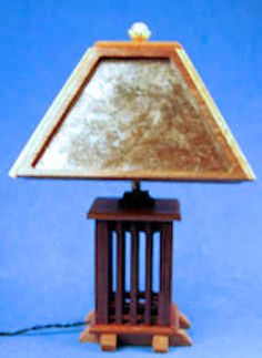 Tim Kraft, Lumenations by Mr K, IGMA artisan - Arts & Craft style table lamp, selling for $145 by SP Miniatures