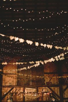 Hanging Garland In Barn