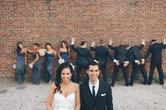 Bridal party photos in Red Hook, Brooklyn. Captured by NYC wedding photographer Ben Lau.