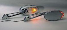 Rivco L.E.D. Lighted Turn Signal Mirrors (Chrome)- Harley Davidson/ Metric Cruisers