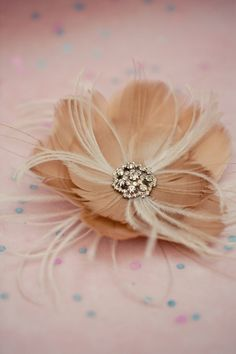feather hair flower~ made by: Lo Boheme <3