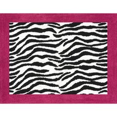 @Overstock.com.com.com - Sweet JoJo Designs Funky Zebra Pink Border Rug - This pink zebra rug from Sweet JoJo Designs is patterned in bold animal print and a pink border, standing alone or bringing your nursery together when used with the matching bedroom collection. The hand-tufted rug uses non-skid backing to stay in place  http://www.overstock.com/Baby/Sweet-JoJo-Designs-Funky-Zebra-Pink-Border-Rug/7601882/product.html?CID=214117 $39.99