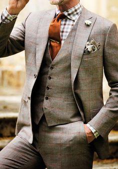 Man in three piece suit