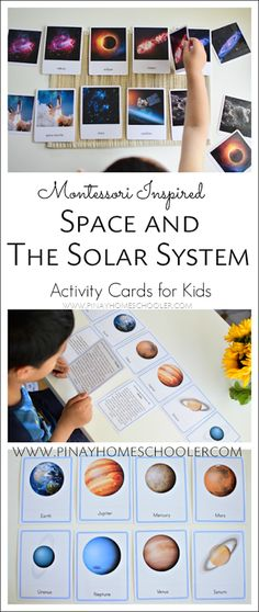 Space and Solar System Activity Cards for Kids