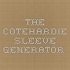 The Cotehardie Sleeve Generator