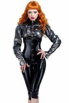 Elegant latex outfit
