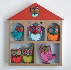 I Am The Paper Shaper: Helen Musselwhite Owl Art, Bird Art, Owl Crafts, Paper Crafts, Paper Shaper, Origami, Paper Birds, Paper Artwork, Owl House