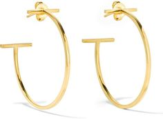 Tiffany & Co. T Wire 18-Karat Gold Hoop Earrings ($1,650)   Summer's Must-Have Accessory Will Bring Back So Many Memories   POPSUGAR Fashion
