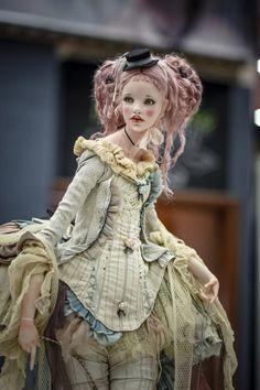 Art doll by Alisa Filippova. Pretty Dolls, Beautiful Dolls, Rococo Fashion, Vintage Fashion, Doll Painting, Fashion Design Sketches, Fairy Dolls, Ooak Dolls, Doll Clothes Patterns