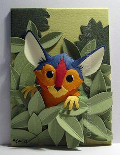 Fantasy Creature Paper Sculpture.