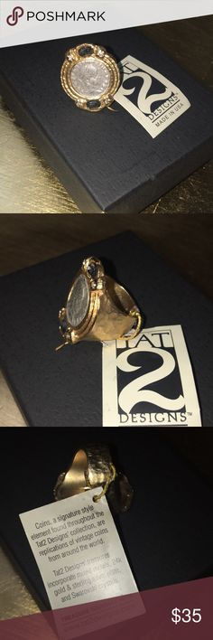 NEW! Gold Tone Coin Ring Brand new! Beautiful gold tone ring. TAT 2 Designs Jewelry Rings